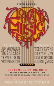 Zion Canyon Music Festival poster